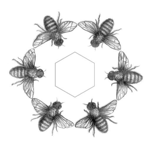 Bees Art Print Haze Road