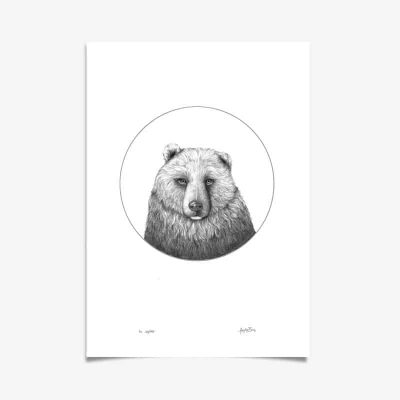 Bear Art Print Haze Road