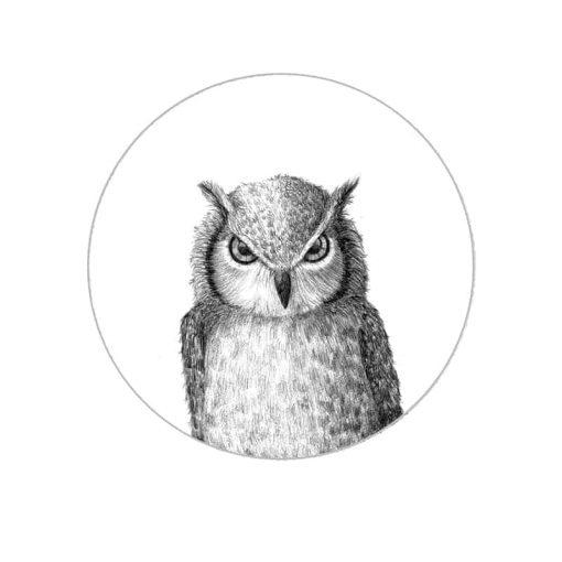 Owl Art Print by Haze Road
