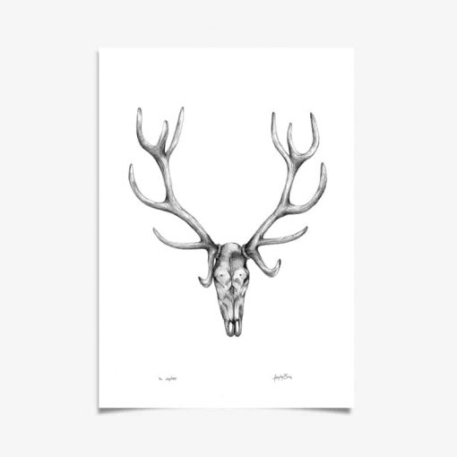 Stag Art Print by Haze Road