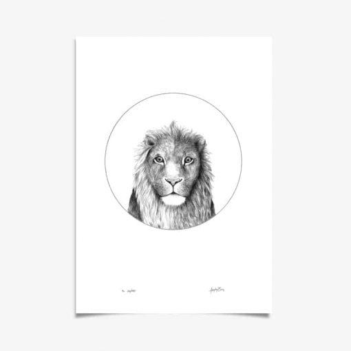 Lion Art Print by Haze Road