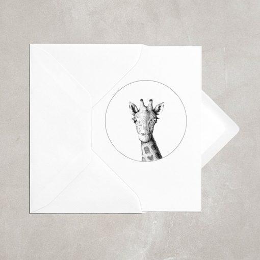 Giraffe Card A6